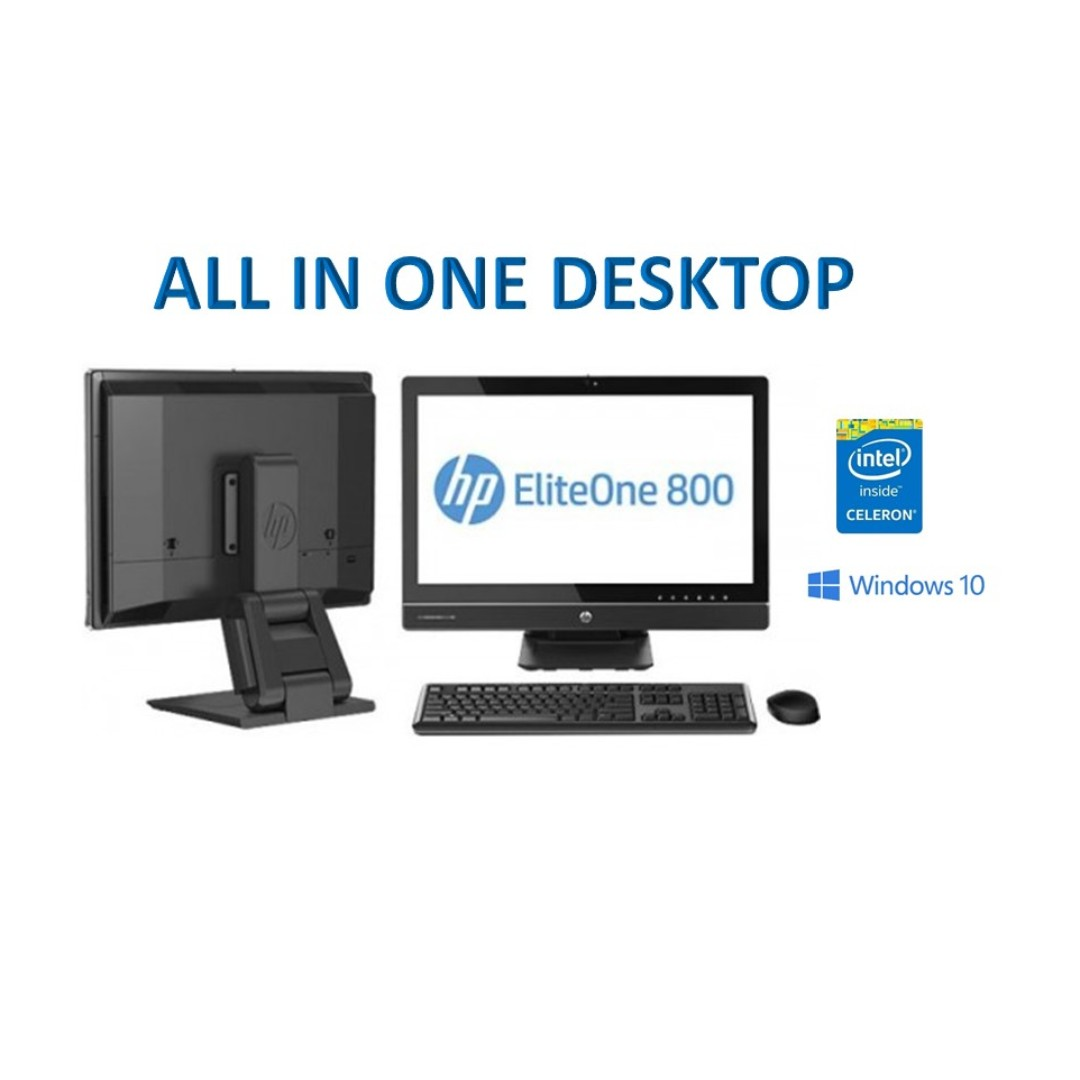 All in One HP 800 G1, Core i3 41xx, 8GB, SSD 120GB, 23in LED HD1920